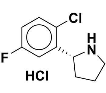 (R)-2-(2-chloro-5-fluorophenyl)pyrrolidine hydrochloride