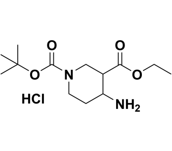 1-(tert-butyl) 3-ethyl 4-aminopiperidine-1,3-dicarboxylate hydrochloride