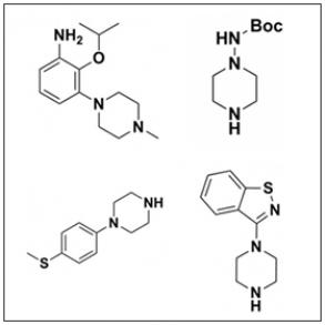 Achiral Piperazines
