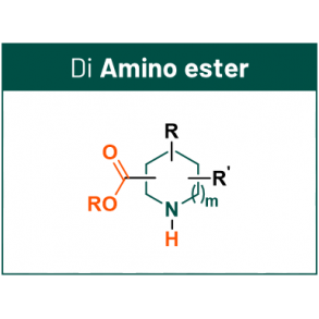 DEL scaffolds with 2 synthetic handles: Amino Ester
