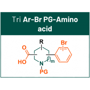 DEL scaffolds with 3 synthetic handles: ArBr PG-Amino acid