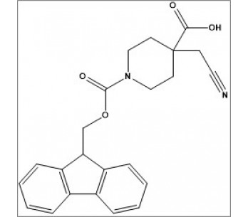 1-(((9H-fluoren-9-yl)methoxy)carbonyl)-4-(cyanomethyl)piperidine-4-carboxylic acid
