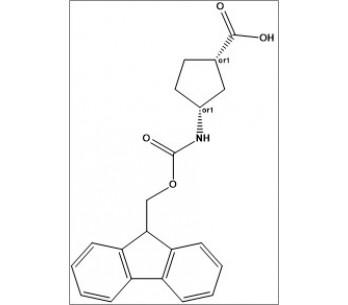 rel-(1S,3R)-3-((((9H-fluoren-9-yl)methoxy)carbonyl)amino)cyclopentane-1-carboxylic acid