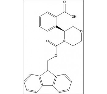 (S)-2-(4-(((9H-fluoren-9-yl)methoxy)carbonyl)morpholin-3-yl)benzoic acid
