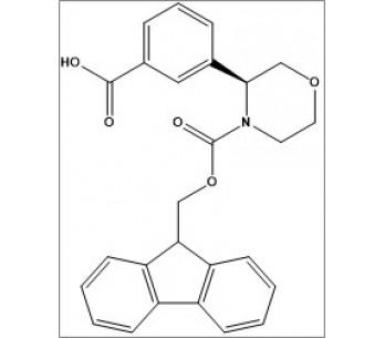 (S)-3-(4-(((9H-fluoren-9-yl)methoxy)carbonyl)morpholin-3-yl)benzoic acid