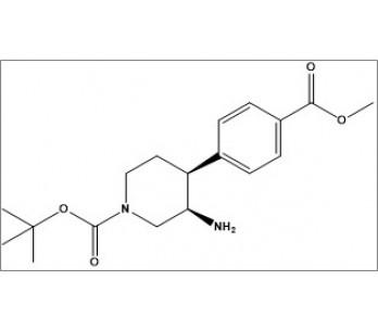 tert-butyl (3R,4S)-3-amino-4-(4-(methoxycarbonyl)phenyl)piperidine-1-carboxylate