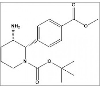 tert-butyl (2S,3S)-3-amino-2-(4-(methoxycarbonyl)phenyl)piperidine-1-carboxylate