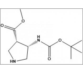 cis-methyl-4-((tert-butoxycarbonyl)amino)pyrrolidine-3-carboxylate