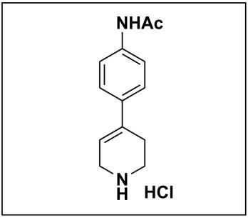 N-(4-(1,2,3,6-tetrahydropyridin-4-yl)phenyl)acetamide hydrochloride