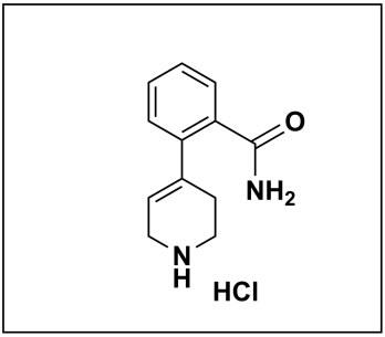 2-(1,2,3,6-tetrahydropyridin-4-yl)benzamide hydrochloride