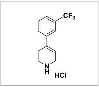 4-(3-(trifluoromethyl)phenyl)-1,2,3,6-tetrahydropyridine hydrochloride