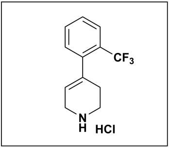 4-(2-(trifluoromethyl)phenyl)-1,2,3,6-tetrahydropyridine hydrochloride