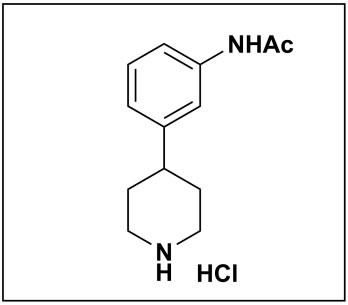 N-(3-(piperidin-4-yl)phenyl)acetamide hydrochloride