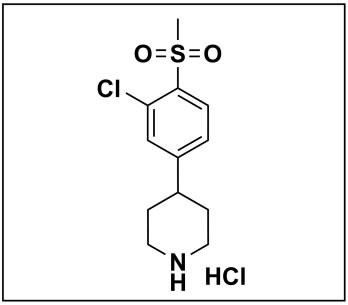 4-(3-chloro-4-(methylsulfonyl)phenyl)piperidine hydrochloride