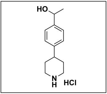 1-(4-(piperidin-4-yl)phenyl)ethan-1-ol hydrochloride