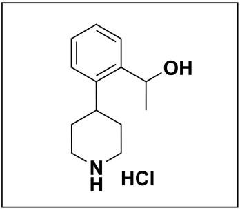 1-(2-(piperidin-4-yl)phenyl)ethan-1-ol hydrochloride
