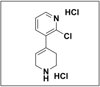 2-chloro-1',2',3',6'-tetrahydro-3,4'-bipyridine dihydrochloride