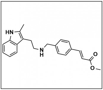 (E)-Methyl 3-(4-(((2-(2-methyl-1H-indol-3-yl)ethyl)amino)methyl)phenyl)acrylate
