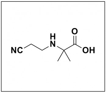 2-((2-Cyanoethyl)amino)-2-methylpropanoic acid